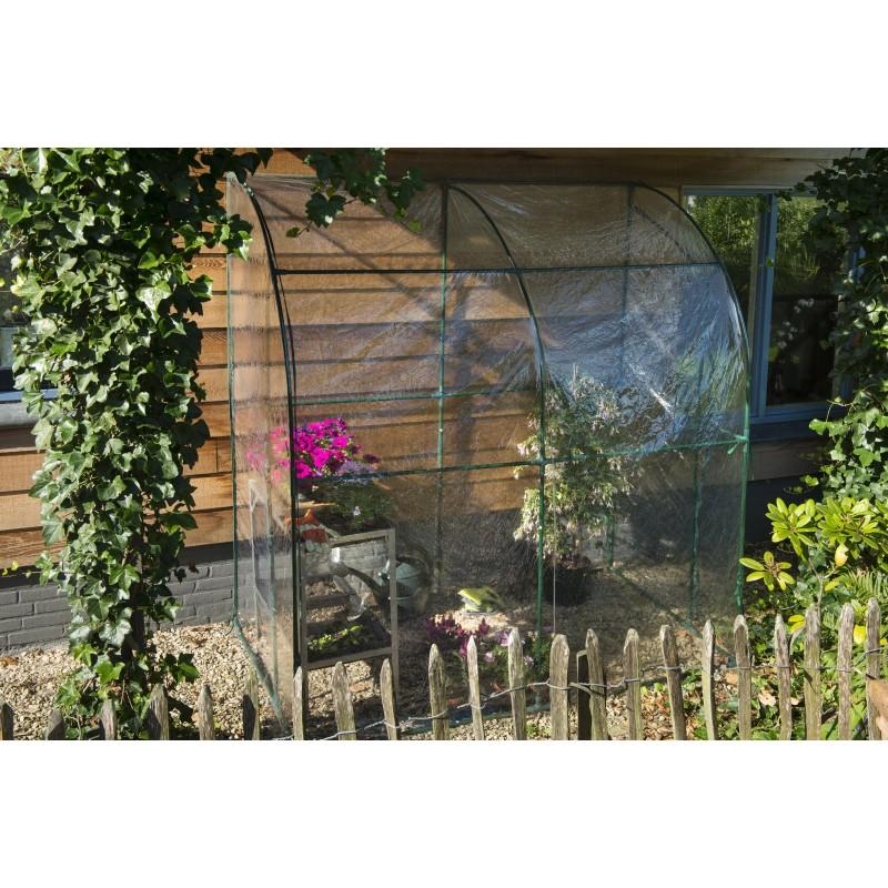 Serre murale à adosser contre un mur, superficie 2m²