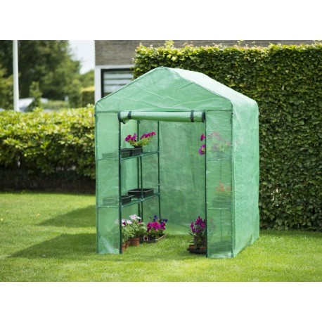 Serre de jardin avec étagères superficie 2m²