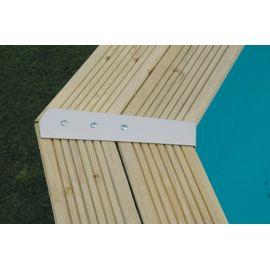 Set de finition droit (180deg) de margelles pour piscine rectangulaire par 4 - Ubbink