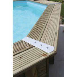 Set de finition d'angle (45deg) de margelles pour piscine rectangulaire par 4 - Ubbink