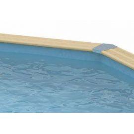 Piscine Azura 410 - H120cm + Bâche à bulles bordée - Ubbink
