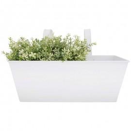 Jardinière blanche en métal