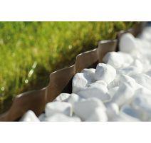Bordure de jardin ondulée, perforée - marron - 15 cm x 9 m