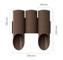 Palissade de jardin 3 MAXI - marron - 13,5 cm x 2,1 m