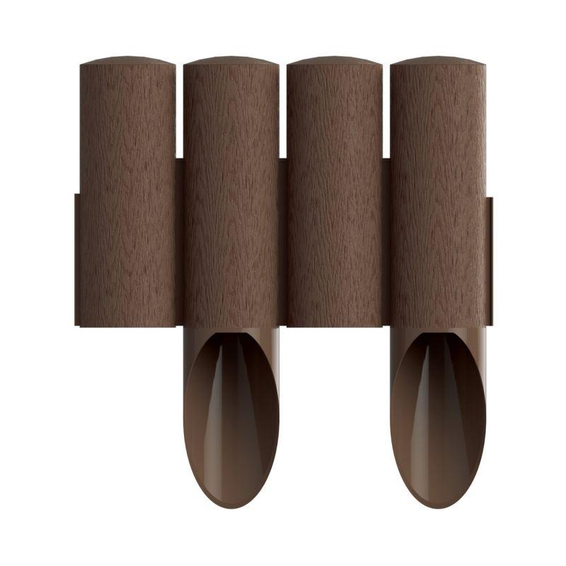 Palissade de jardin 4 STANDARD - marron - 14,5 cm x 2,3 m