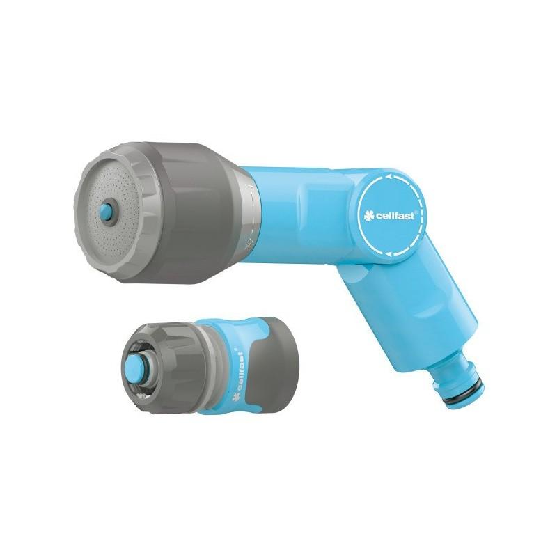 Arroseur multifonction VARIANT + raccord rapide stop SAFETOUCH IDEAL  12,5  et  15 mm