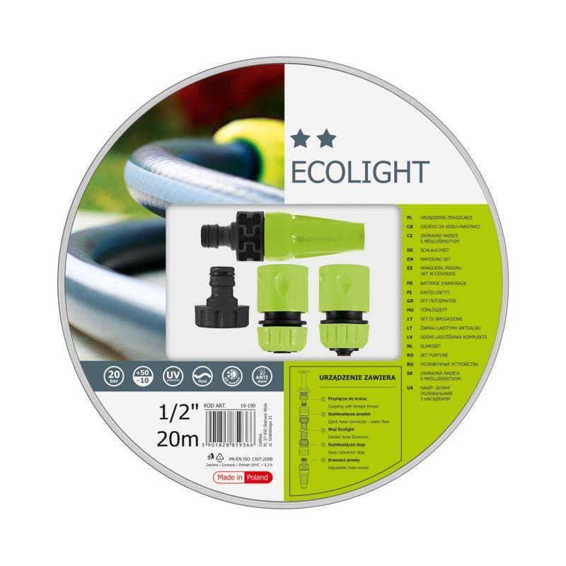 Kit d'arrosage ECOLIGHT 19 mm   20 m  + access. IDEAL
