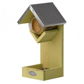 Abri oiseaux avec 2 emplacements à nourriture