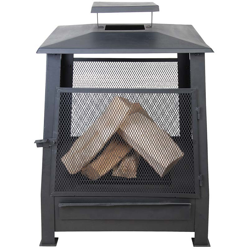 Pagode chauffe terrasse grillagée