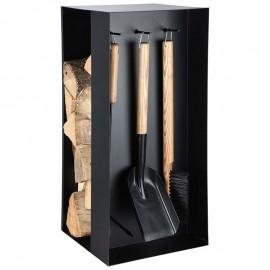 Accessoires cheminée + stockage bois