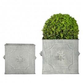 Set de 2 Pots de fleurs en demi rond - Moyen