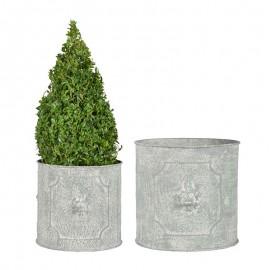 Set de 2 Pots de fleurs en demi rond - Petit