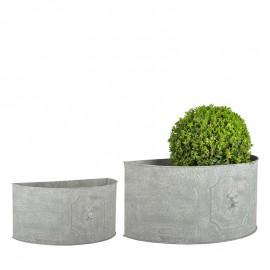 Set de 2 Pots de fleurs en demi rond - Grand