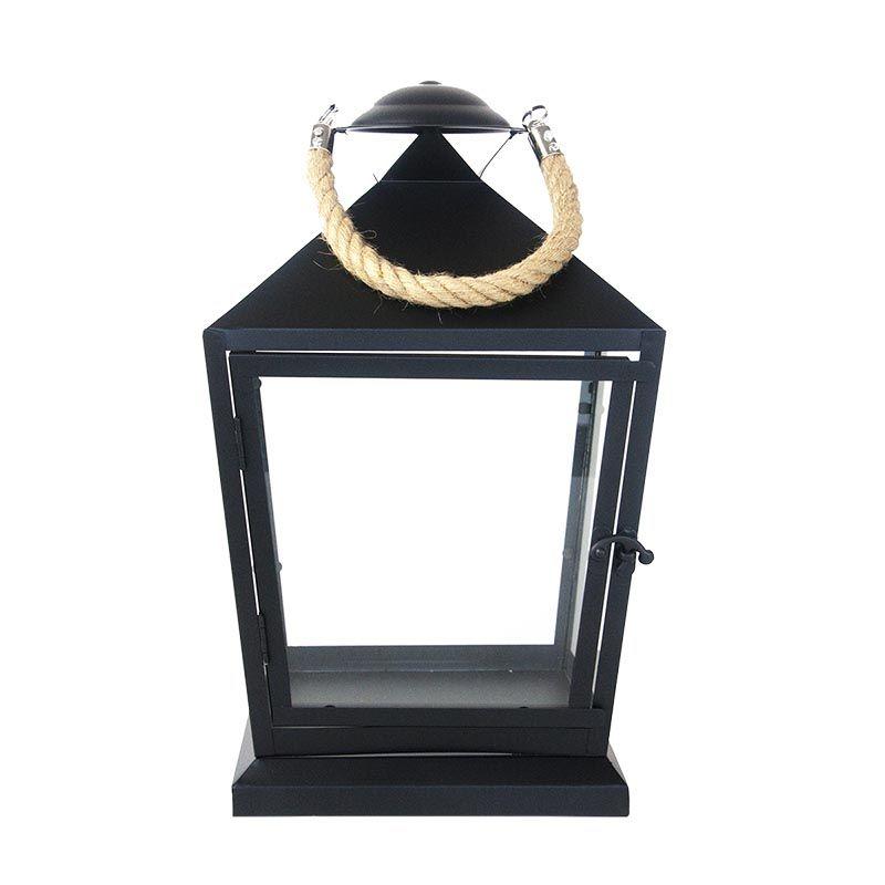 Lanterne noire avec corde, différentes tailles disponibles