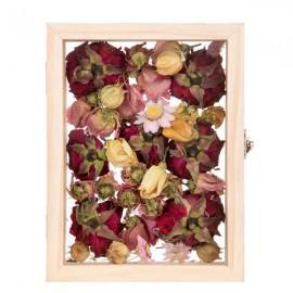 cadre double face en verre pour fleurs séchées