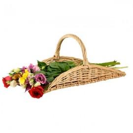 panier à anse pour fleurs séchées