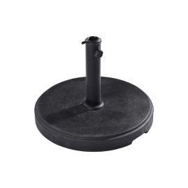 Pied de parasol Rond Grainé 15 Kg Cire Noir