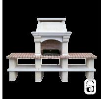 Barbecue Mons grand modèle & 2 Tables Ton Blanc