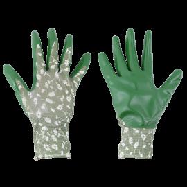 gants jardinage femme polyester nitrile anti dérapant