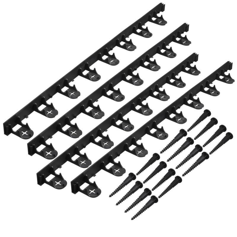 Bordure à gazon en PP - Noir