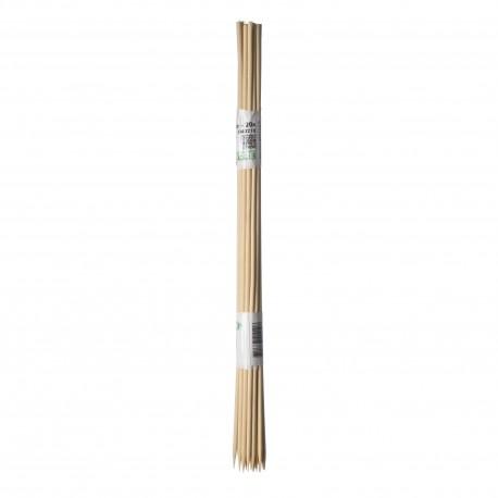 15 Tuteurs H40cm en bambou refendu