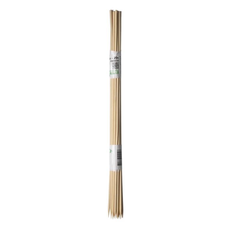 10 Tuteurs H50cm en bambou refendu