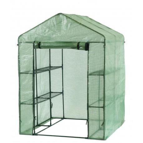 Serre de jardin avec étagères - 2m²