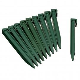 10 Ancres pour bordures de jardin - Vert