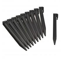 10 Ancres pour bordures de jardin - Noir