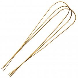 3 Tuteurs H180cm en bambou arceau