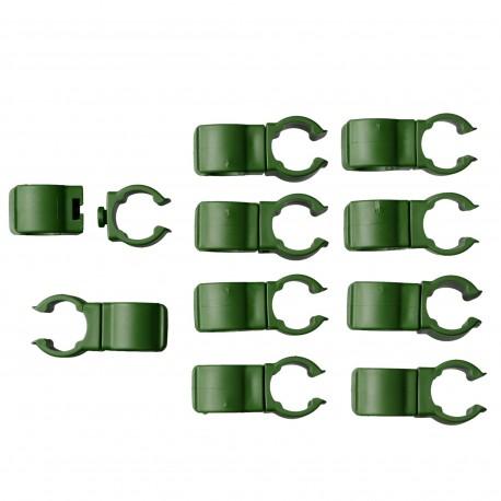 10 Connecteurs Ø16mm clip orientale