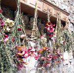 Fleurs séchées pressées bouquet couronne cloche en verre